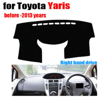 car dashboard covers For TOYOTA YARiS before to 2013 year Right hand drive dash mat covers Auto dashboard  protector accessories(China (Mainland))