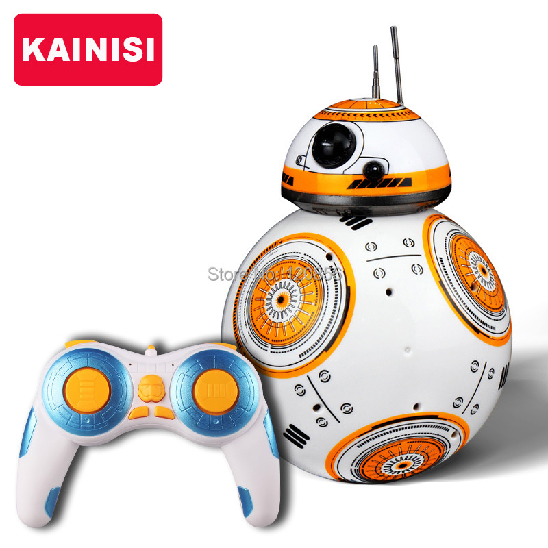 Free shipping 17cm Star Wars RC 2.4G BB-8 Robot upgrade remote control BB8 robot intelligent with sound RC Ball kid gift boy toy(China (Mainland))