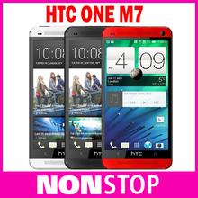 Original HTC One M7 Unlocked metal shell 32GB GPS 3G 4G WIFI 4.7''TouchScreen 4MP camera Andriod 4.3 Cell Phone Refurbished(China (Mainland))