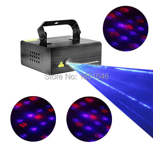 Remote 20 Patterns 650mw BLUE RED Laser Stage Lighting DJ Party show Xmas Light(China (Mainland))