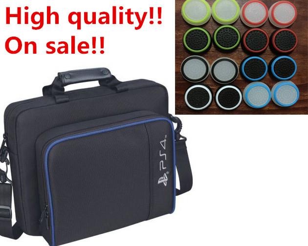 Travel Carry Case Cover Bag Shoulder Bag handbag+4x3D Cap anti-slip Thumbsticks Joystick Caps for Sony PS4 Playstation 4 Console<br><br>Aliexpress