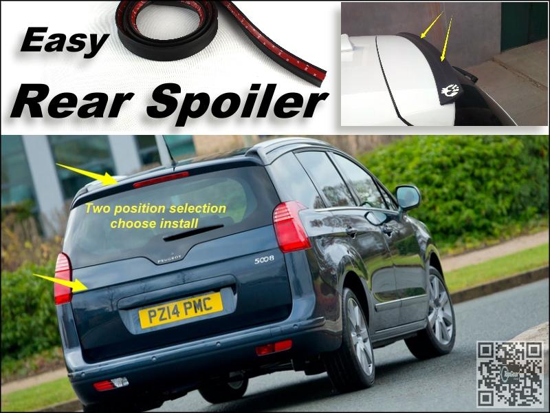 Root / Rear Spoiler For Peugeot 5008 Trunk Splitter / Ducatail Deflector For TopGear Friends Easy Tuning / Free Modeling<br><br>Aliexpress