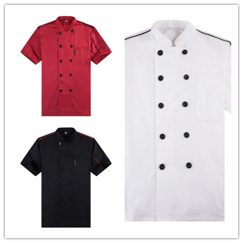 Short-sleeved Chef service Hotel working wear Restaurant work clothes Tooling uniform cook Tops Kitchen Cook Chef high quality(China (Mainland))