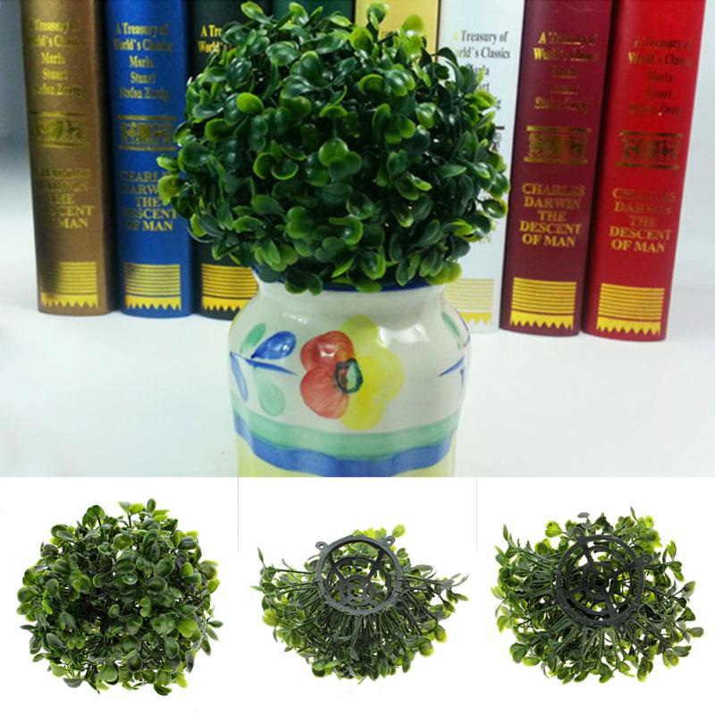 Artificial Plastic Foliage Green Grass Lantern Ball Decor Plants Party Home Decor Green Plant Crafts Decorative Ball Grass(China (Mainland))