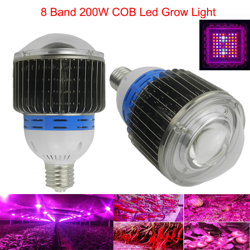 8 Band 200W 600W Ful COB Led Grow Lights Spectrum for Hydroponics COB Led Plant Grow Light for Hydroponics cultivation flower(China (Mainland))