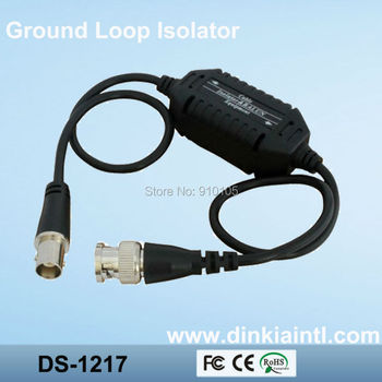 CCTV accessories video isolator/coaxial video ground loop isolator,video antijamming equipment DS-1217