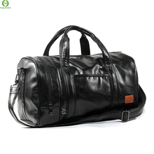 Large Capacity Leather men's travel bags Vintage handbags shoulder bag Big men Luggage bag Deodorant separate shoe Compartment(China (Mainland))