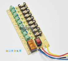 12V switching power supply line board 9 output distribution plate current shunt tube / self recovery in insurance(China (Mainland))