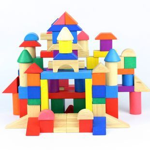 100 pure beech color box large blocks wooden toy storage bag
