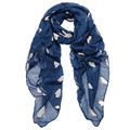 Women Lady Penguin Print Shawl Voile Rectangle Scarf Scarves