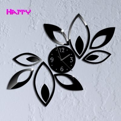 New Era Home Decoration Big Flower watch Wall Clock Modern Design Luxury Mirror Clocks Best Gift Romms - YIWU MIRROR CRAFT FACTORY store
