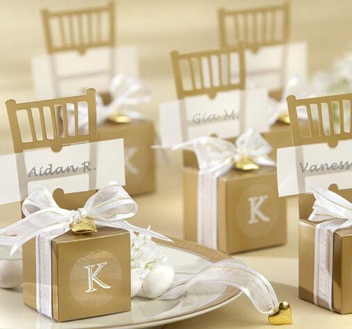 Popular fashion 40pcs/lot European hotsale gold chairs wedding favor box holiday supplies gift box ZH0653(China (Mainland))