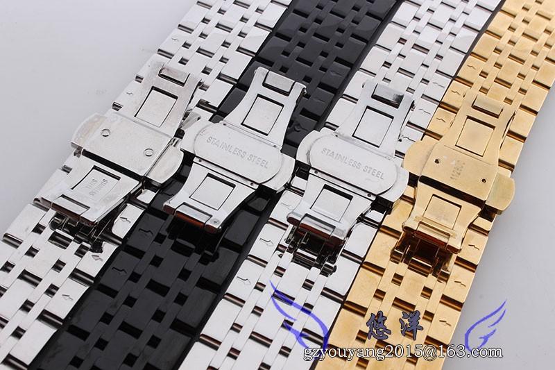 22 мм ширина нержавеющей стали металлического серебра наручные часы ремешок ремешок с двойным нажмите нержавеющей стали часы пряжка для 1648 0389