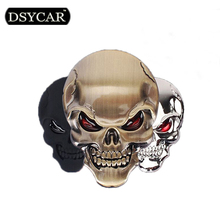 DSYCAR 3D Metal Skull Motorcycle Bike Car Sticker Logo Emblem Badge Decals Car Styling for Fiat Bmw Ford Lada Audi opel volvo VW(China (Mainland))