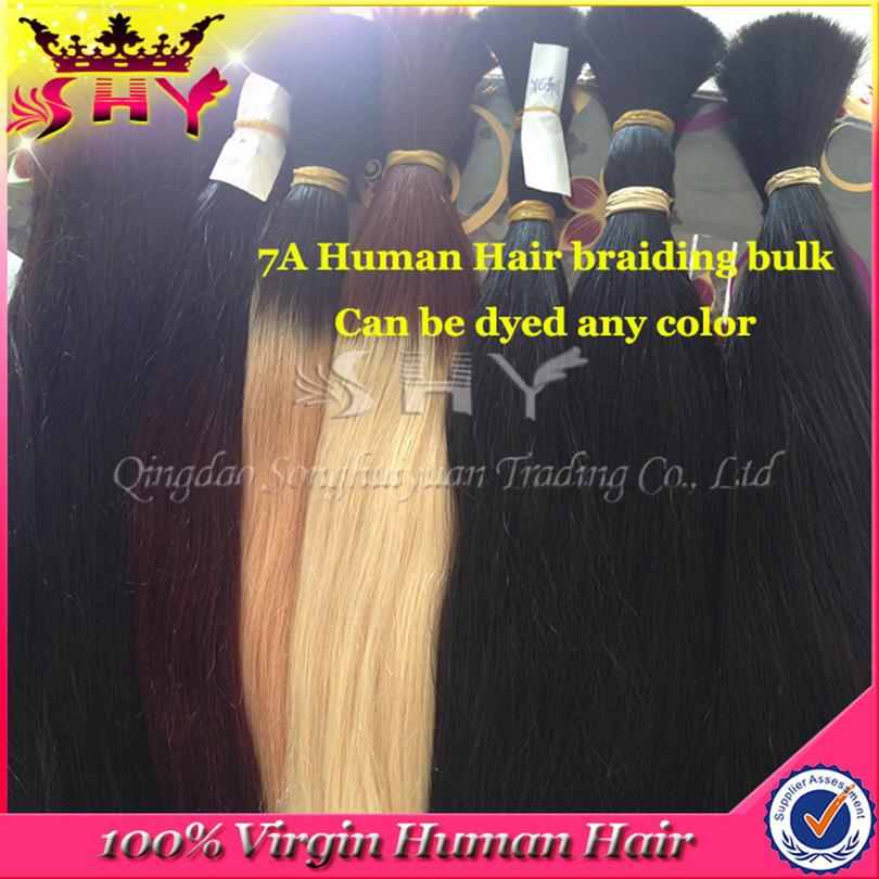 Grade 7A Brazilian Virgin Human Hair Bulk 14-26inch Natural Human Hair Remy Silky Straight Weave No Weft Raw Material Hair Bulk<br><br>Aliexpress