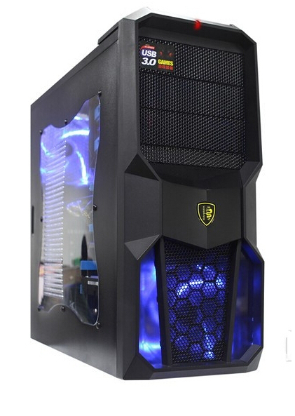 2015 New Hot Sale GL6 Gaming Topline Computer Case pc and free 300w Pc Power free computer LED light Freeshipping(China (Mainland))
