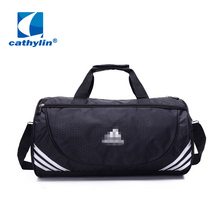 Hot New Brand Unisex Nylon Waterproof Sport Bag Men Gym Travel Bags Large Capacity Women Barrel Bag Shoulder Messenger Bag(China (Mainland))