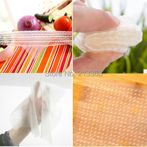 Magic Seal Cover Multifunctional Stretch Cling Food Film Vacuum Silicone Food Fresh Storage Wrap Clear Best Selling(China (Mainland))