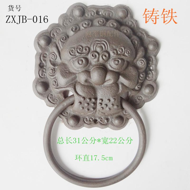 Фотография Antique furniture, iron gates octagonal ring handle classical Chinese style door handles copper fittings decorative accessories