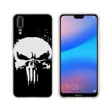 Caixa Do Telefone Para Huawei P8 Punisher Frank Castle P9 Lite 2017 P10 P20 P30 Lite Plus Pro P Inteligente 2019 capa Capa Mole(China)