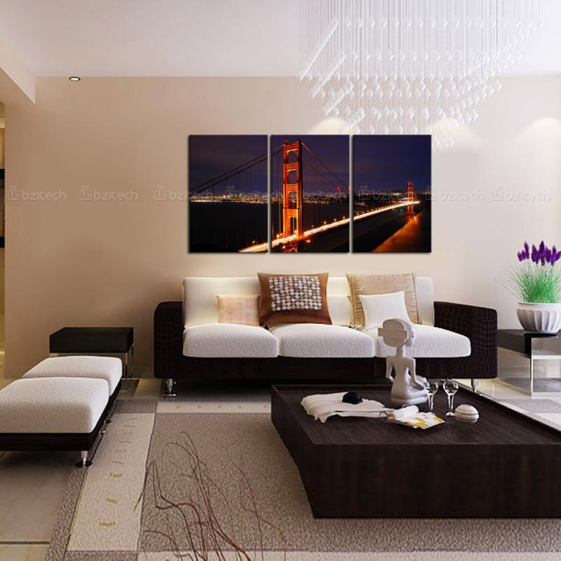 Aliexpresscom Buy Elegant Golden Gate Bridge Wall Art