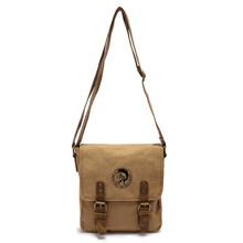 EcoCity Canvas genuine leather men messenger bags school desigual crossbody bag men s shoulder bags buckle
