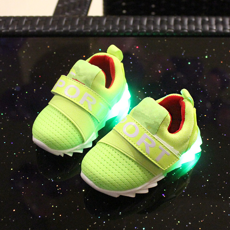 2016 Baby sport shoes 1 - 3 years old baby shoes with light luminous soft slip-resistant outsole baby toddler shoes