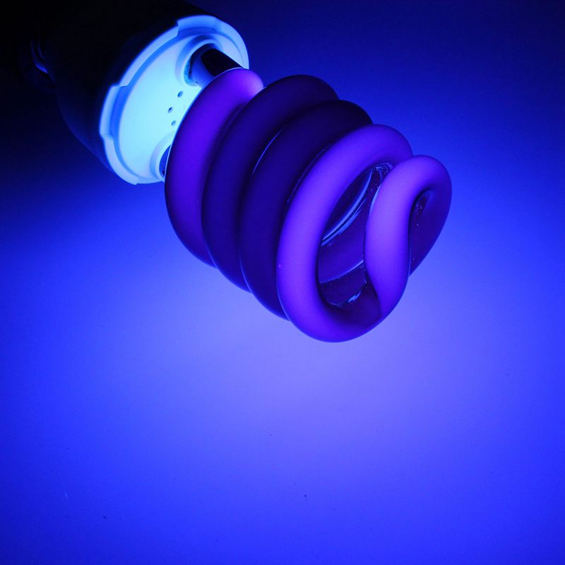 Lowest Price E27 Spiral Energy Saving 15/20/30/40W UV Ultraviolet Fluorescent Black Light CFL Violet Light Bulb Lamp DC12V(China (Mainland))