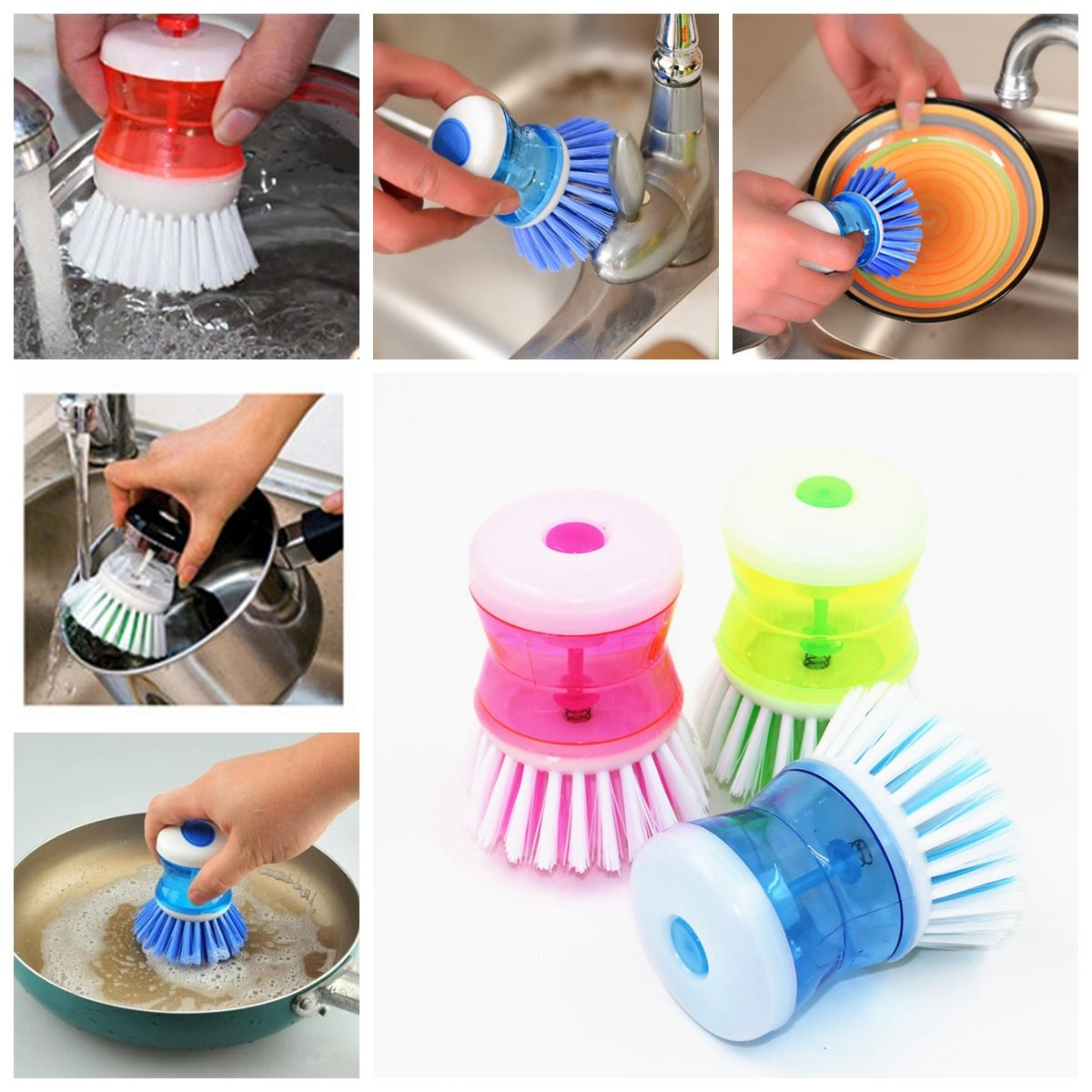 Newest Best Price Kitchen Wash Tool Pot Pan Dish Bowl For Palm Brush Scrubber Cleaning Cleaner Plastic For Cleaning(China (Mainland))