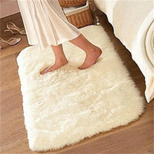 2016 New 1PC Soft Wool Feel Anti-skid  Living Dining Bedroom Floor Free Shipping  Carpet Shaggy Mat Rug(China (Mainland))