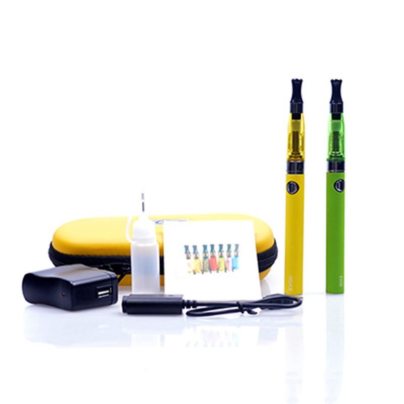 ถูก บุหรี่อิเล็กทรอนิกส์คู่EVOD CE4ชุดเริ่มต้นบุหรี่อิเล็กทรอนิกส์650 900 1100มิลลิแอมป์ชั่วโมงEVODแบตเตอรี่CE4ฉีดน้ำCigอีชุดซิปกรณีชุด