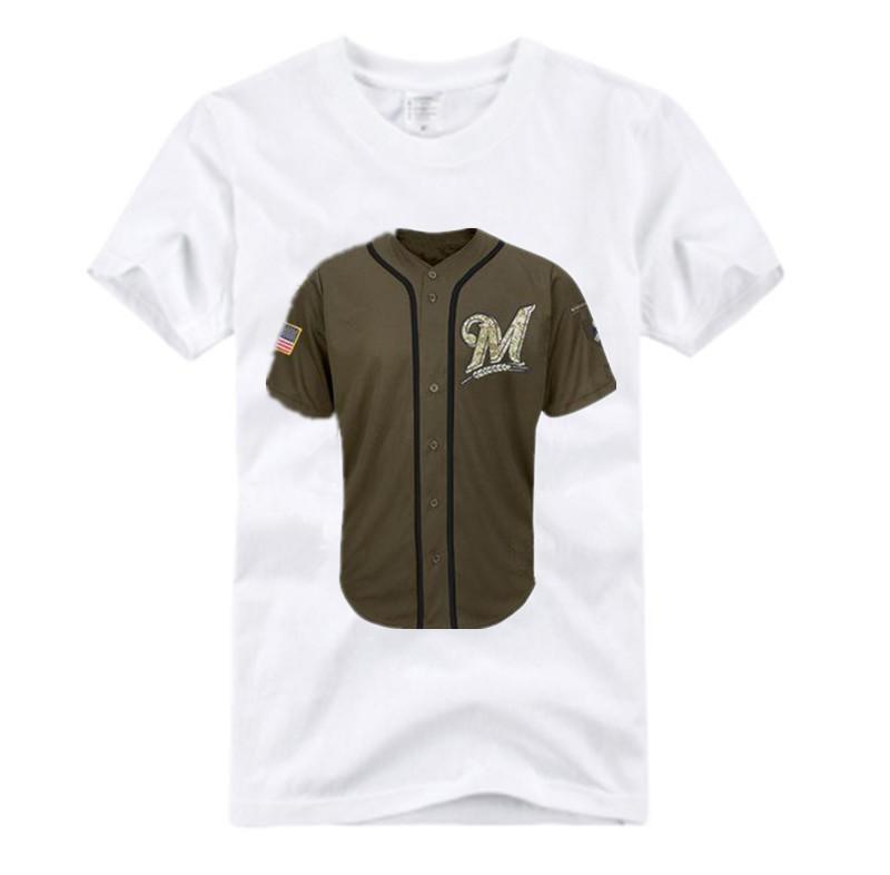 New Style! Milwaukee Brewers #20 Jonathan Lucroy #2 Scooter Gennett #8 Ryan Braun Green Salute To Service Stitched Jersey Shirt(China (Mainland))
