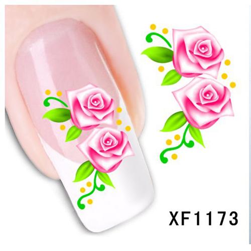 Women's Nail Foils Sticker Nail Art Stick Nail Patch Lady Nail Care Sticker XF1173(China (Mainland))