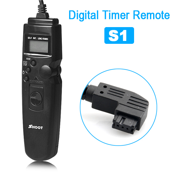 Timer Remote Shutter Release S1 for Sony a100 a200 A300 A350 a700 A35 A33 A99 A55 A65 A77(China (Mainland))