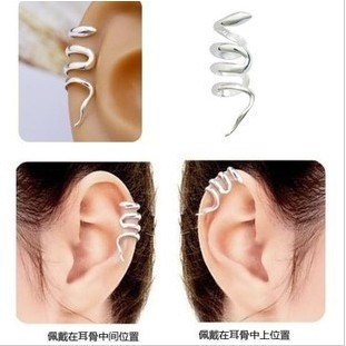 E146 Wholesales 2015 New Retro Fashion Western Snake Ear Cuff Clip Earrings Jewelry(China (Mainland))