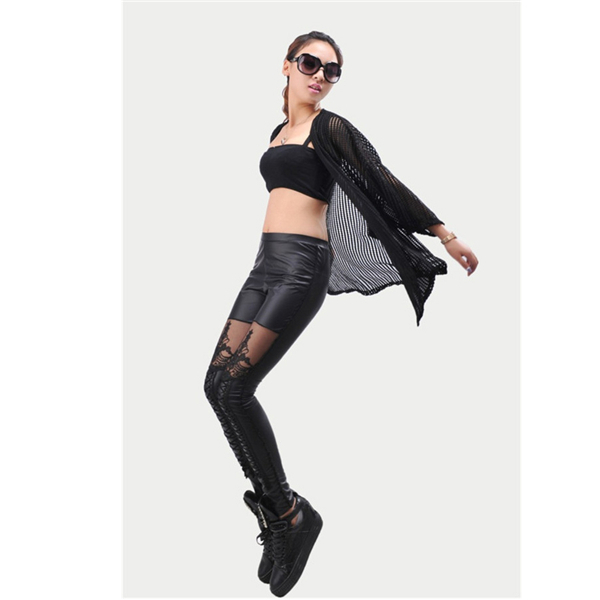 Женские брюки Thin Trousers 2015 OR853179 Faux Leather Pants