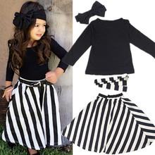 2015 New Summer wear Girls Casual TOPS + Maxi Long Skirts Clothing Set Suit Girls Clothe Fashion wear headband+belts 4pcs/set(China (Mainland))