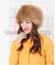 khaki  The new hat Qiu dong is high quality imitation fox fur the whole skin circle cap Warm lady's imitation fur hats(China (Mainland))
