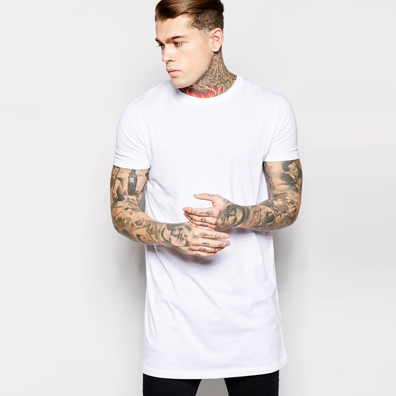 Online buy wholesale tall tees from china tall tees for Mens long sleeve white t shirt