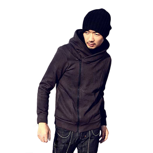British Style Mens O-Neck Casual High Collar Fashion Personality Stayed Hooded Autumn Jacket Coat Одежда и ак�е��уары<br><br><br>Aliexpress