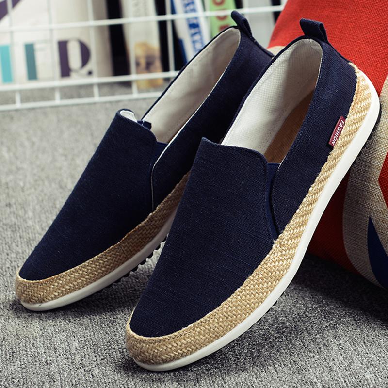Aliexpress.com Comprar Planos de Los Hombres Zapatos de Lona Alpargata alpargatas Para Hombre Señoras de la Lona Zapatos Planos Alpargatas Hombre