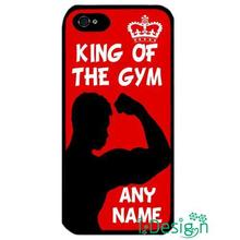 Fit for Samsung Galaxy mini S3/4/5/6/7 edge plus+ Note2/3/4/5 cellphone case cover King of Gym flexing muscles personalised name