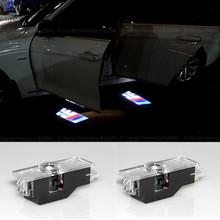 2x LED Car door courtesy laser projector Logo Ghost Shadow Light For BMW M3 M5 M4 E90 E60 F10 E85 E86 E91 E92 E93 F01 F30 E70(China (Mainland))
