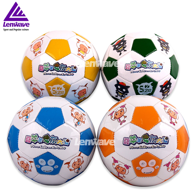 Hot Sales Mini Football Ball Size 2 Plesant Goat and Big Big Wolf PVC Soccer Ball For Kids(China (Mainland))