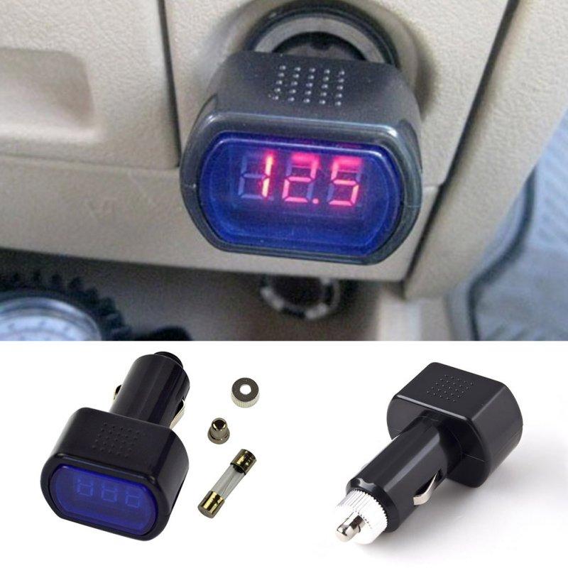 Car Digital Monitor Volt Voltmeter LCD Cigarette Lighter Voltage Panel Meter(China (Mainland))