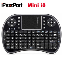 Free DHL 20pcs/lot iPazzPort 2.4G Mini i8 Wireless Keyboard With Touchpad Air Mouse Best Quality Multiple Languages Keyboards(China (Mainland))