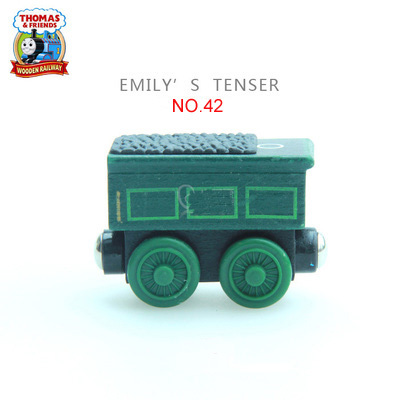 Emily&Emily Tender 2pcs Thomas and His Friends Wooden Trains Model Great Kids Christmas Toys Gifts for Children Friends Age 3+
