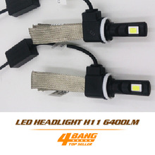 Buy Pair 60W/Set 6400LM/Set LED H8 H9 H11 Bulb White Car DRL Cooling Belt Light Conversion Kit Fog Headlight Headlamp for $38.99 in AliExpress store