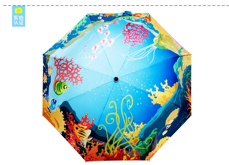 The undersea world style umbrella/Advanced printing and dyeing technology/The latest version of 2016/Limited sales(China (Mainland))