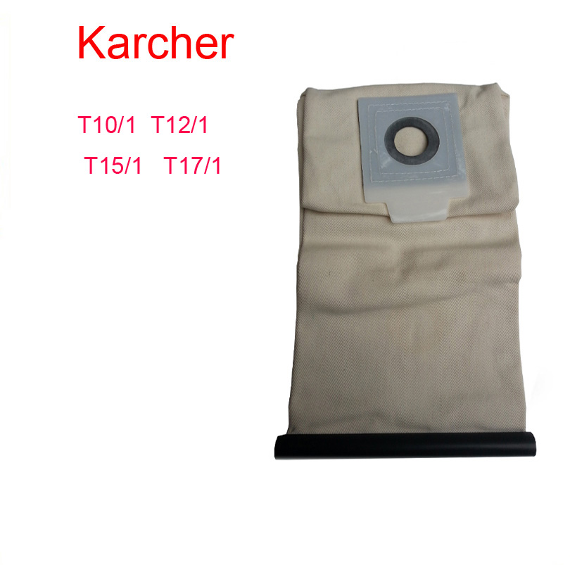 karcher vacuum cleaner bag Washable Cloth BagsT10/1 T12/1 T15/1 T17/1 Reuse Pattern parts Free Shipping(China (Mainland))